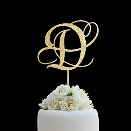 Monogram Wedding Cake Toppers D
