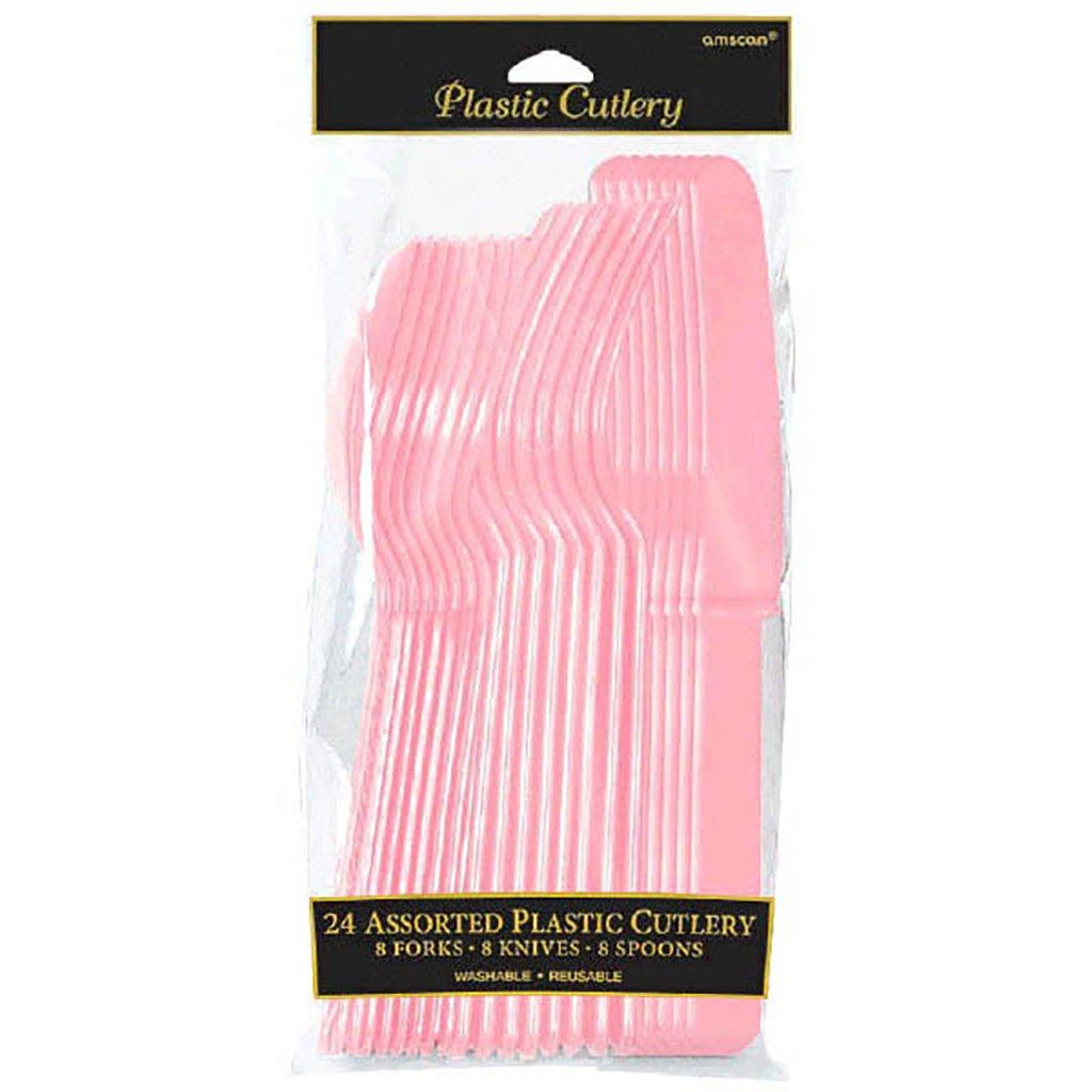 Tu satisfacción es nuestro objetivo Amscan - - - Paquete de 16 cubiertos, color rosa (Travis Designs 4546-109)  hasta 60% de descuento