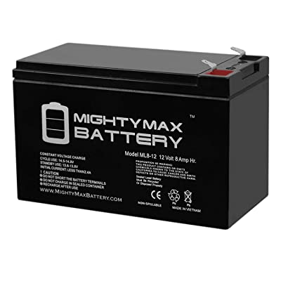 Mighty Max Battery 12V 8Ah Battery Replaces Panasonic LC-R12V7.2P1, LCR12V7.2P1 Brand Product : General Use Batteries : Sports & Outdoors
