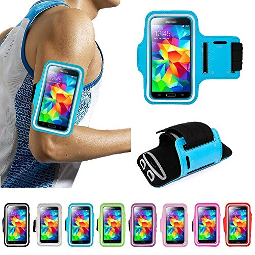 Price comparison product image shoppingmal 11 Colors Premium Cycling Running Jogging Sports Gym Armband Case Cover Samsung Galaxy S/Note iPhone 4/5/6/6S Plus(Black,iPhone 6)