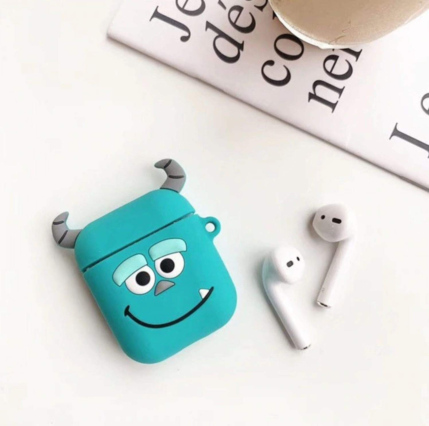 Airpod Case Airpod Accessories Shockproof Protective Premium Silicone Cover and Skin for Apple Airpod Charging Case 3D Cute Cartoon Case for Apple Airpod 1/&2