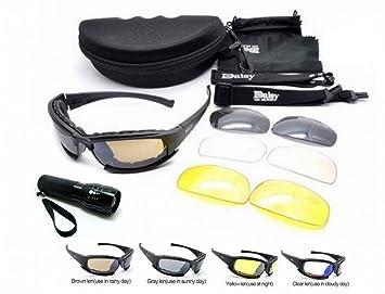 NEU POLARISIERT Daisy X9 Militärische taktische Sport Armee Eyewear Outdoor Goggles 4 Linsen Gläser Sonnenbrillen, Angeln, Klettern, Schießen und Gehen