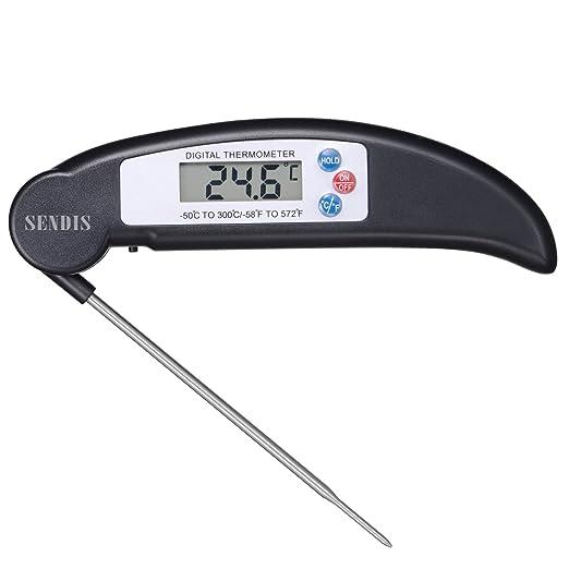 23 opinioni per SENDIS Termometro Digitale da Cucina con Sonda Piegabile Schermo LCD Lettura