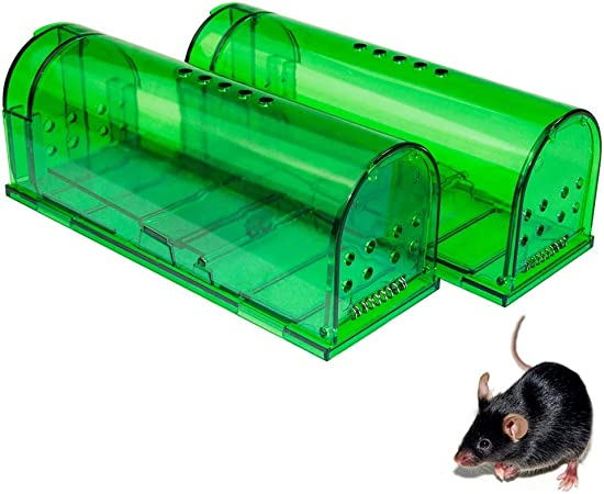Amazon Com Humane Mouse Trap Mouse Traps That Work Best Mouse Mice And Rat Trap Plastic Traps Live Catch And Release Rodents Safe Around Children And Pets 2packs Garden Outdoor