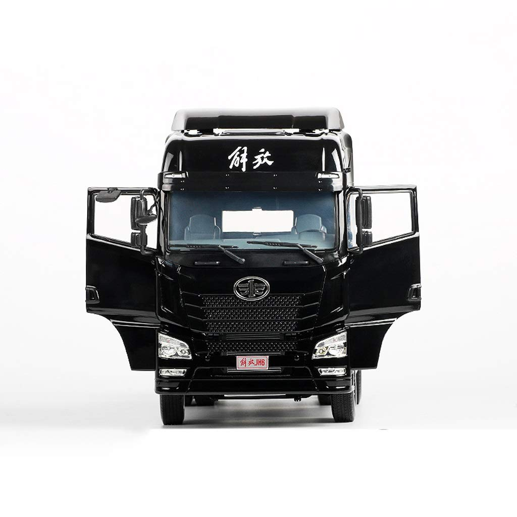 LIUFS-Alloy Car Children's Toy Liberation JH6 Traction Project Truck Static Simulation Alloy Car Model ( Color : Black )
