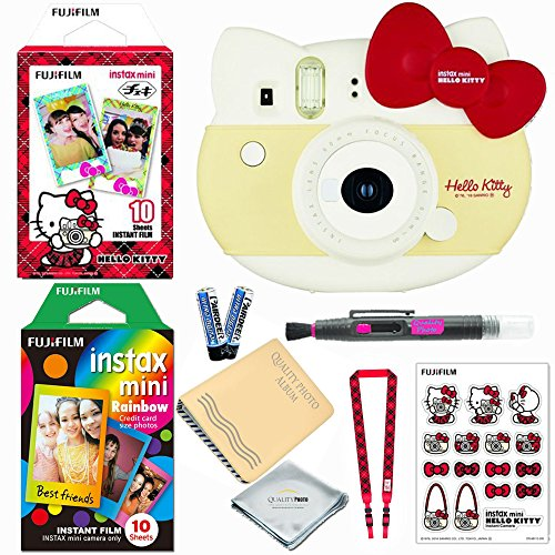 Fujifilm Instax Mini ''Hello Kitty'' Instant Camera (RED) LIMITED EDITION BUNDLE (Includes 20 instant Films) + Extra Accessories by Fujifilm