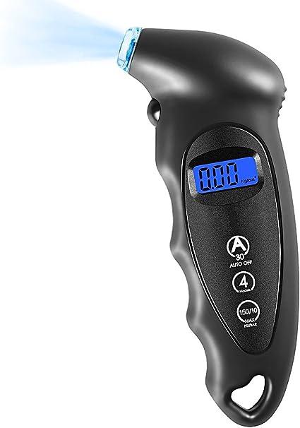 VIDEN Medidor Digital de presión, neumático clásico de 150 PSI 4 ...