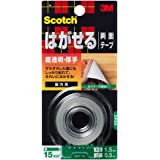 3M スコッチ はがせる両面テープ 超透明 厚手 15mm×1.5m KRT-15