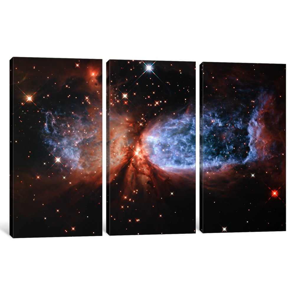 iCanvasART 1-Piece Celestial Snow Angel S106 Nebula Hubble Space Telescope Canvas Print by NASA 0.75 x 40 x 26-Inch