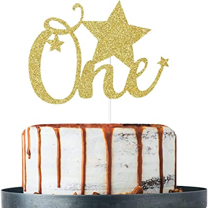 cake topper one year cake topper glitter cake topper Smash cake baby party decor party