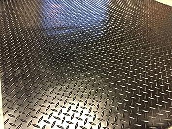 Fußbodenbelag Gummi ~ Checker plate gummi fußmatte garage bodenbelag matten 4 m x 1 5 m