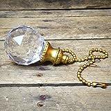 Ganz Clear Gem Orb Fan Pull / Light Pull