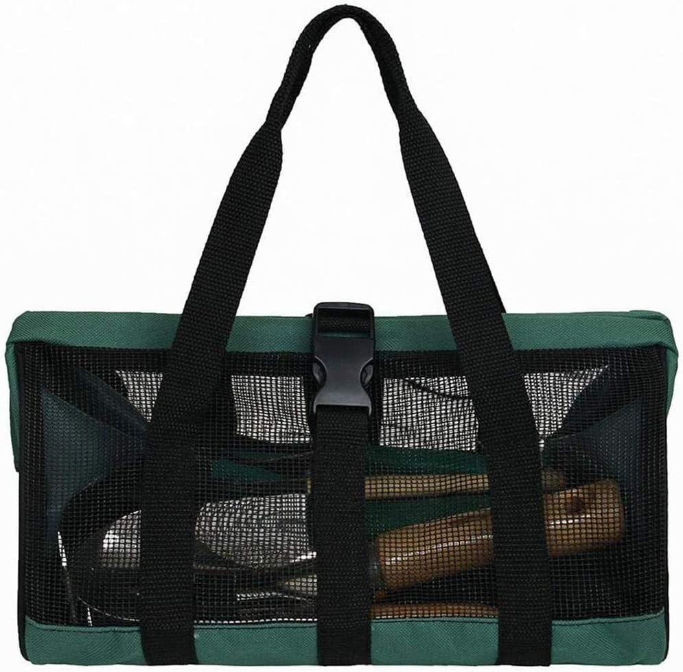 Lveal Garden Tool Storage Bag Holder Portable Gardening Tote Bag Organizer Oxford Plant Tool Kit Storage Bag Heavy Duty Foldable Mesh Storage Tote Hand Bag Home Organizer Water-Resistant Green Reusable