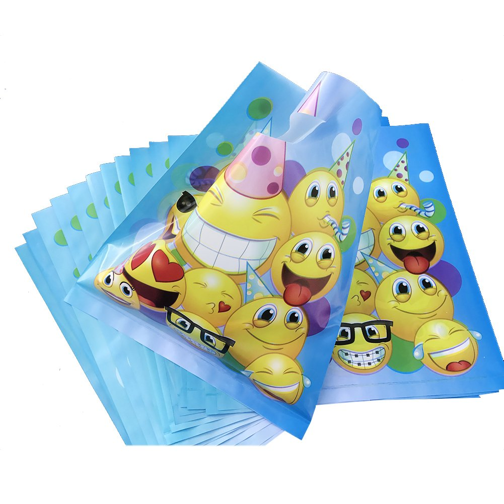 Emoji Treat Bags for Childrens Birthday Party Favors, 36pcs
