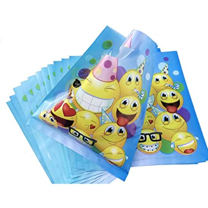 Emoji Treat Bags For Childrens Birthday Party Favors 36pcs