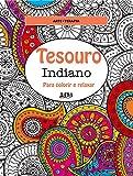 capa de Tesouro Indiano. Para Colorir e Relaxar - Formato Convencional