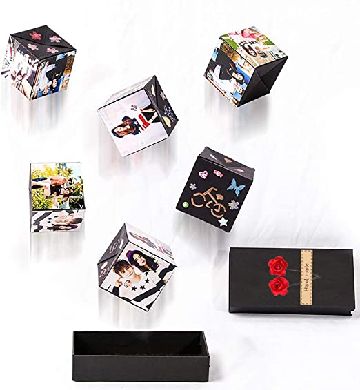 Photo Album Scrapbook Scrap Book Pop Up Explosion Box DIY Handmade Gift Box Birthday Wedding Valentines Day Christmas Surprise Present Men Women Friend by Uscharm Black//3 Pack