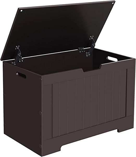 Amazon Com Vasagle Lift Top Entryway Storage Chest Bench With 2