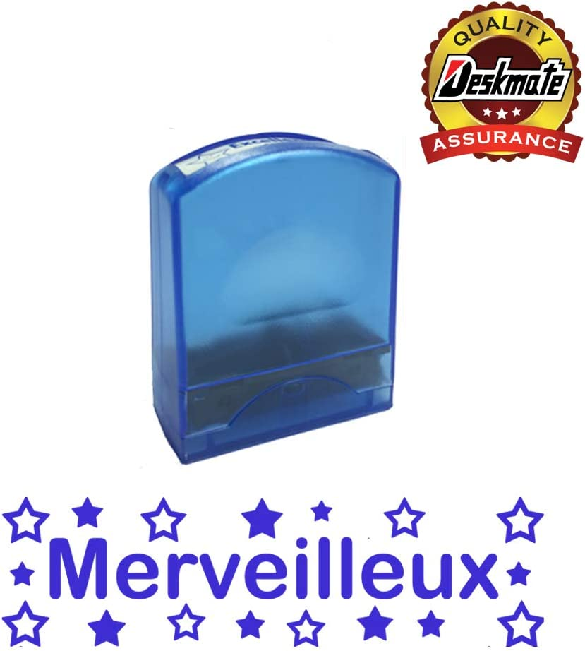 Reinkable Low Cost French Teacher Stamp Merveilleux Self-inking