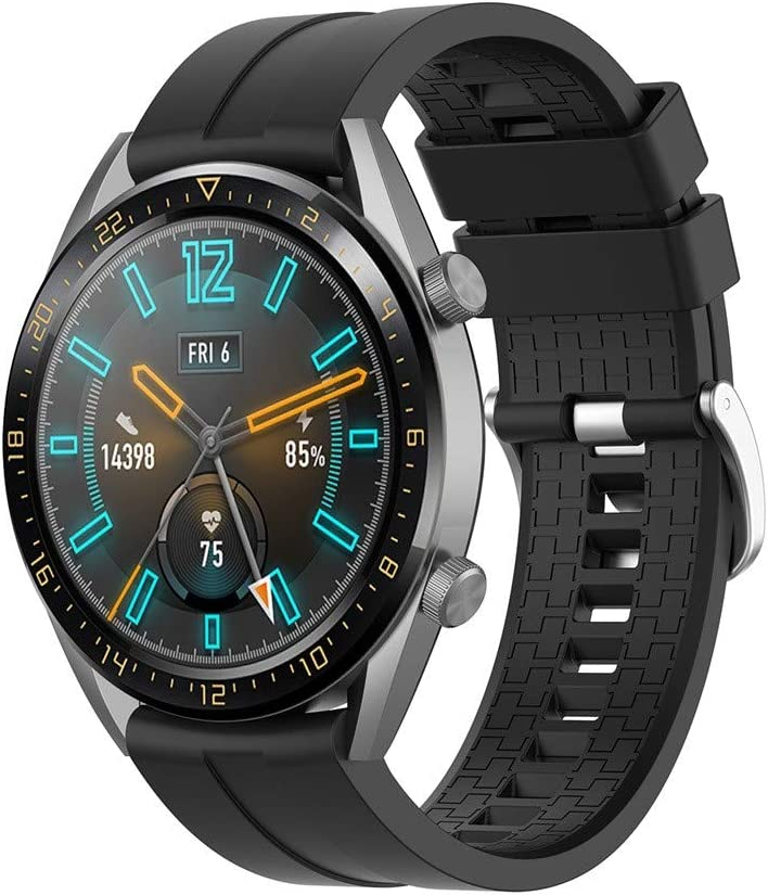 Sodoop Band Compatible for Huawei Watch GT Active 46mm Honor Magic,Fashion Sport Texture Soft Silicone Waterproof Replacement Wristband Strap for ...