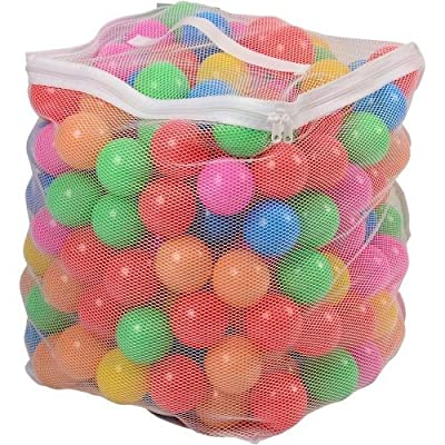 CP Toys Plastic Pit Balls with Mesh Bag - 200 Count, Multi-Colored