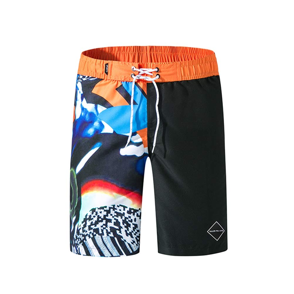 GORBAST Mens 3D Printed Board Shorts Swim Trunks Quick Dry with Mesh Lining