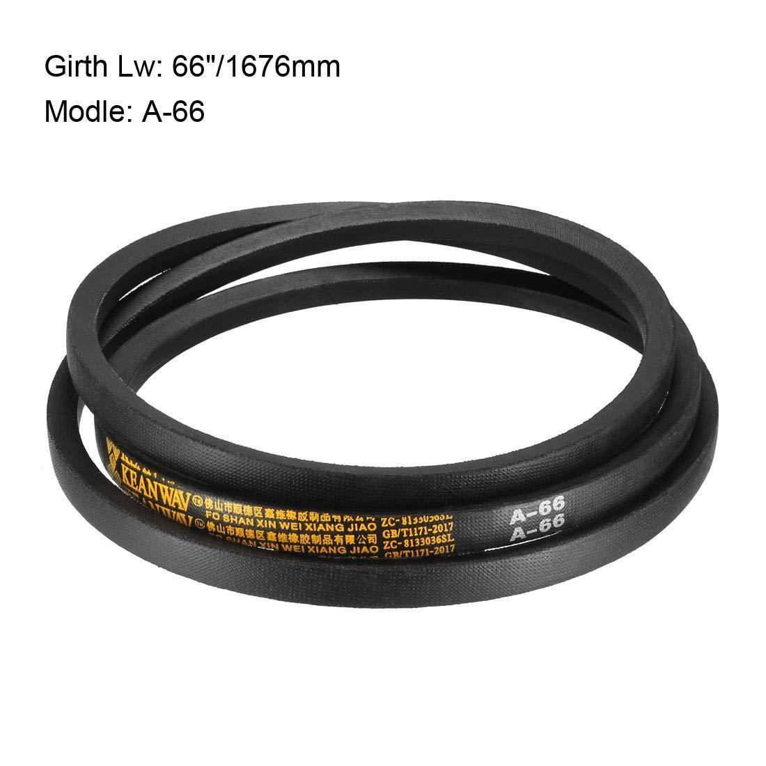 sourcing map A-62 Drive V-Belt Girth 62-inch Industrial Power Rubber Transmission Belt