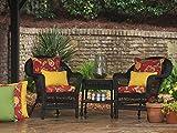 Pillow Perfect Outdoor Fresco Yellow Rectangular