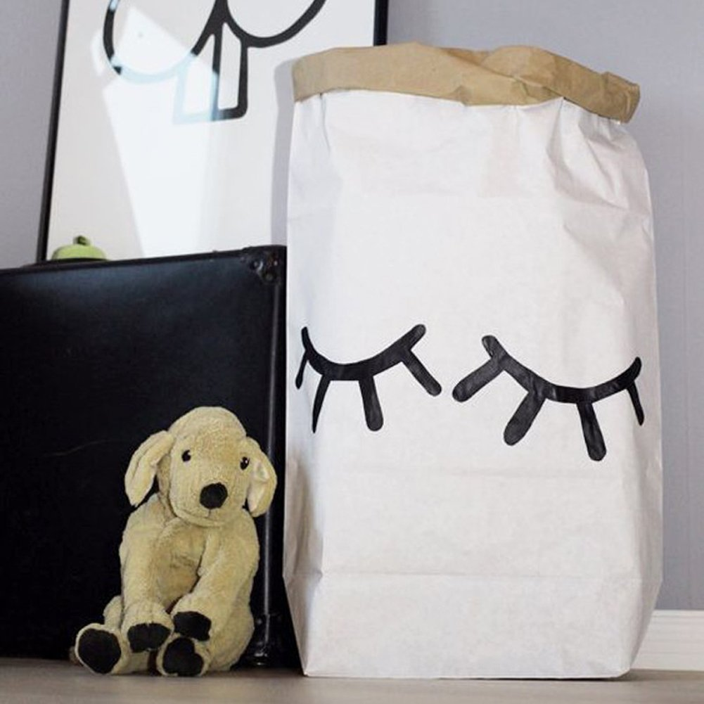 Marvelous Amazon.com: TTnight Durable Cartoon Toy Kraft Paper Storage Bag For Nursery  Or Kidu0027s Room, Double Layer (Eyelash): Office Products