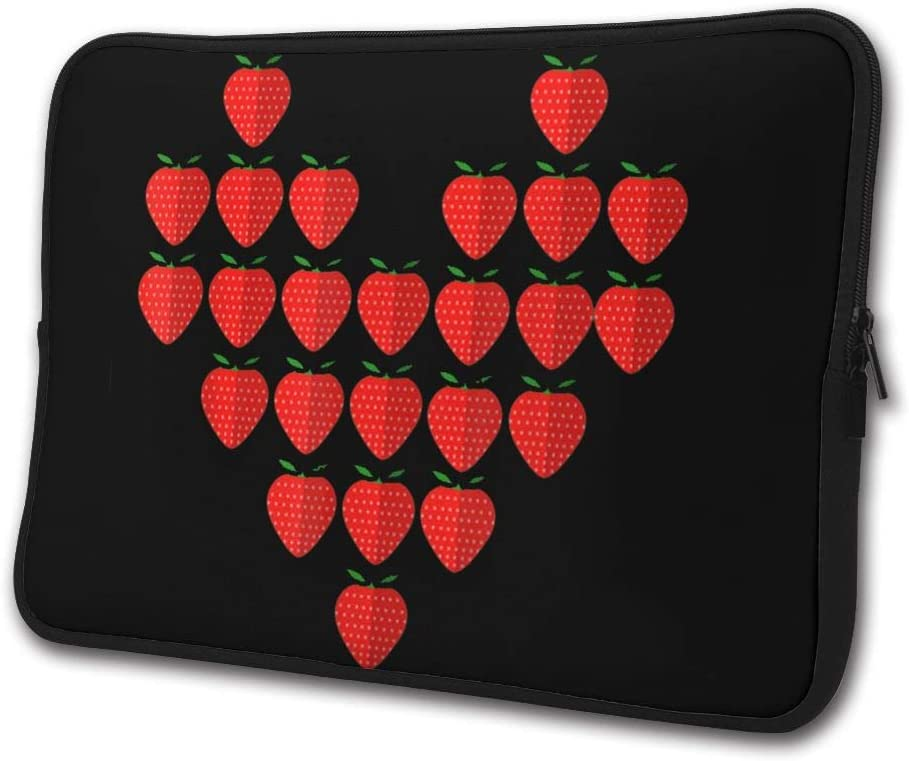 I Love Strawberry Laptop Sleeve Case Computer Cover Handbag