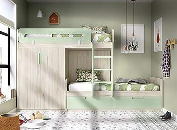ambiato JUP 318 Lit Mezzanine pour Chambre d\'enfant avec 2 ...