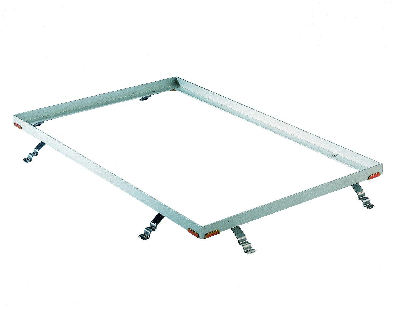 Gr/ö/ße:750 x 500 mm EMCO Eingangsmatte DIPLOMAT Rips hellgrau 22mm ALU Rahmen Fu/ßmatte T/ürmatte Schuhabstreifer