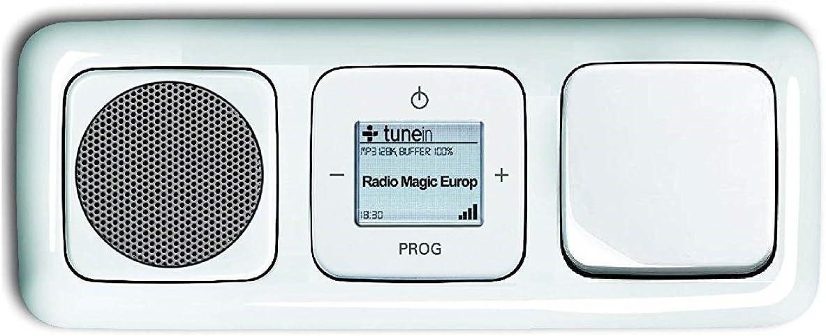 Abdeckungen Wippschalter 2000//6 US in 3 fach Rahmen integriert Radioeinheit alpinwei/ß Komplett-Set Reflex SI Lautsprecher Busch J/äger Unterputz WLAN iNet Internet Radio 8216 U 8216U