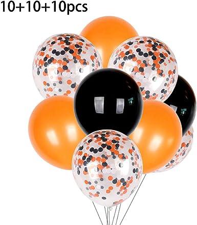 Amazon.com: Hardli Juego de 30 globos de Halloween, 10 ...