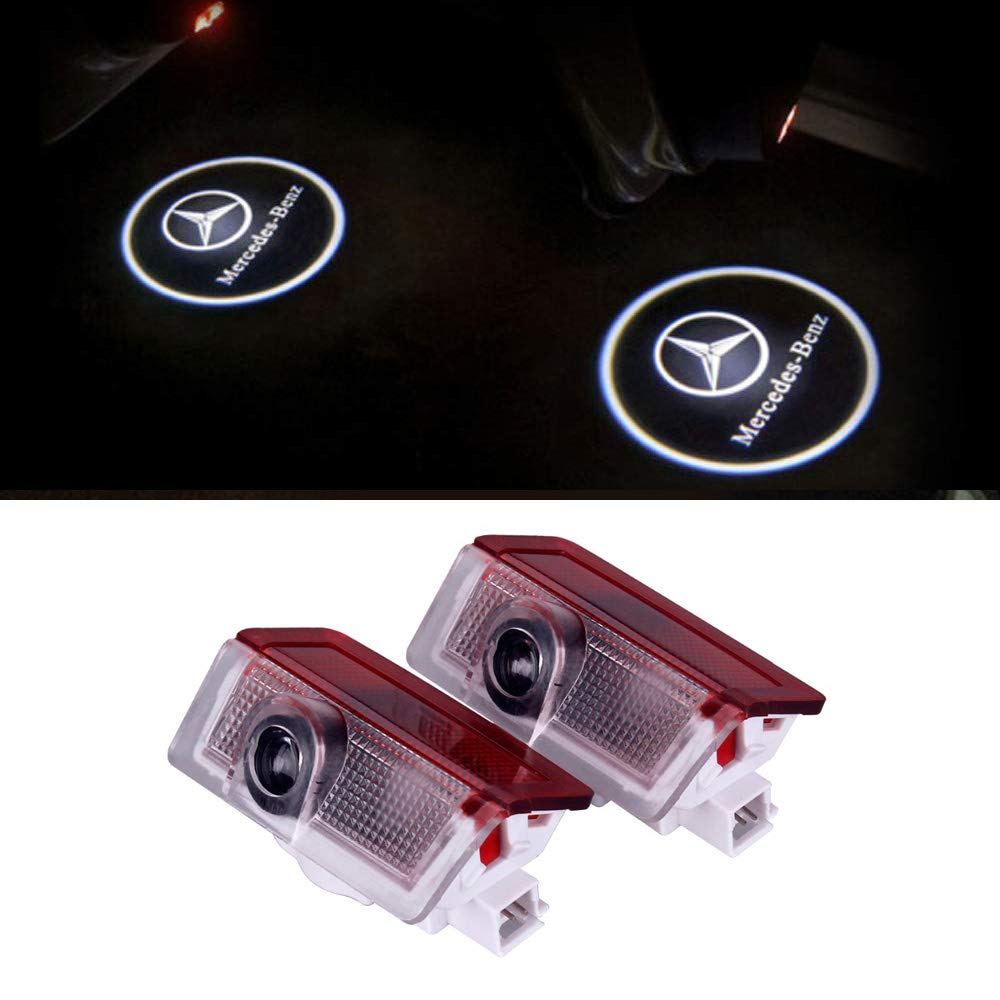 LIKECAR 2pcs luci per porti auto proiettore Car Styling LED Welcome Logo