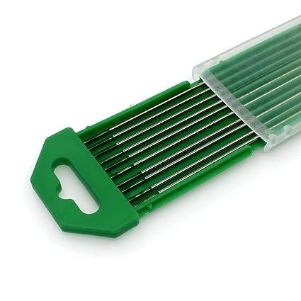 "10 pcs WP 1.6X150mm 1//16/""X6/"" Pure Tungsten Electrode Green"