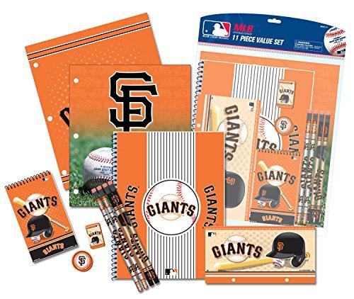 National Design LLC  MLB 11-Piece Stationery Set - San Pencil Francisco Giants