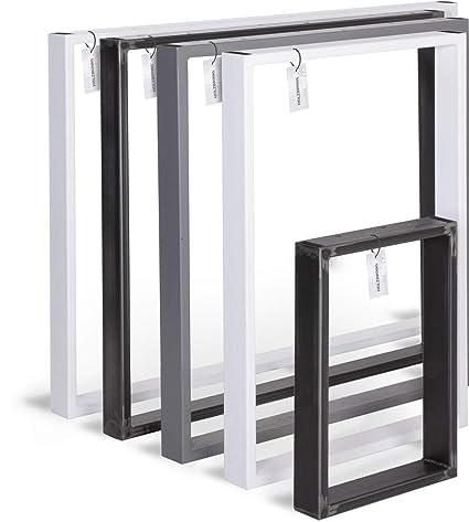 Tischbeine Rohstahl 50 cm x72 cm hoch Tischkufen Tischgestell Loft Stahl vintage