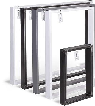 HOLZBRINK Patas de Mesa perfiles de acero 60x20 mm, forma de marco ...