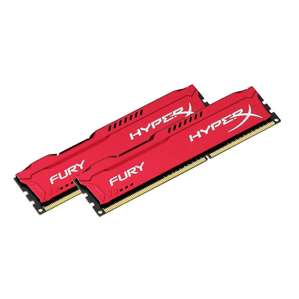 HyperX Fury HX318C10FK2//8 M/émoire RAM 8Go 1866MHz DDR3 CL10 DIMM Kit Bleu 2x4Go