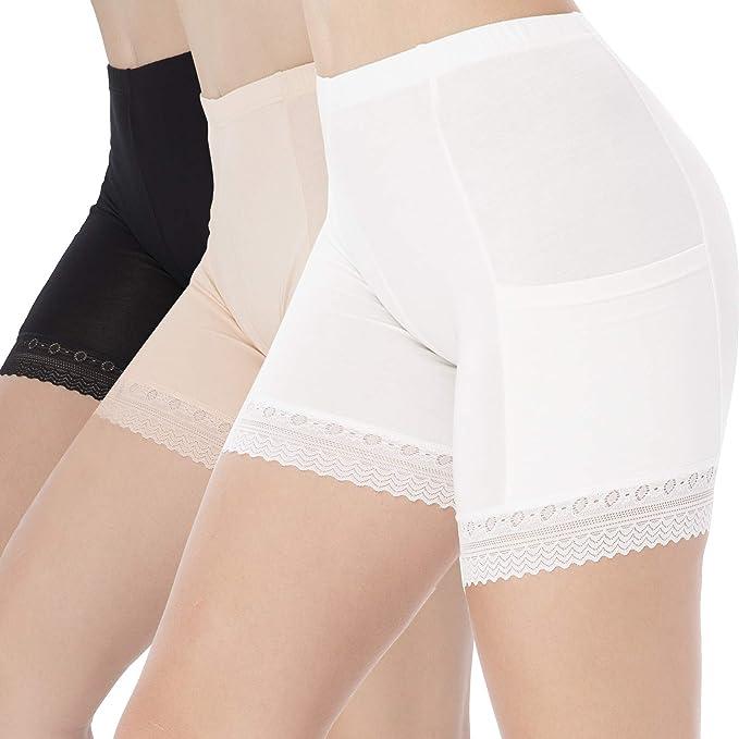 Amazon.com: Blulu 3 piezas de seguridad pantalones de encaje ...