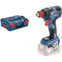 Bosch Professional 06019G4202 - Avvitatore a percussione GDX 18V-200 C (senza batteria, 18 V, max. Momento torcente 200 Nm, in L-BOXX) C Click&Go, 18 V, blu