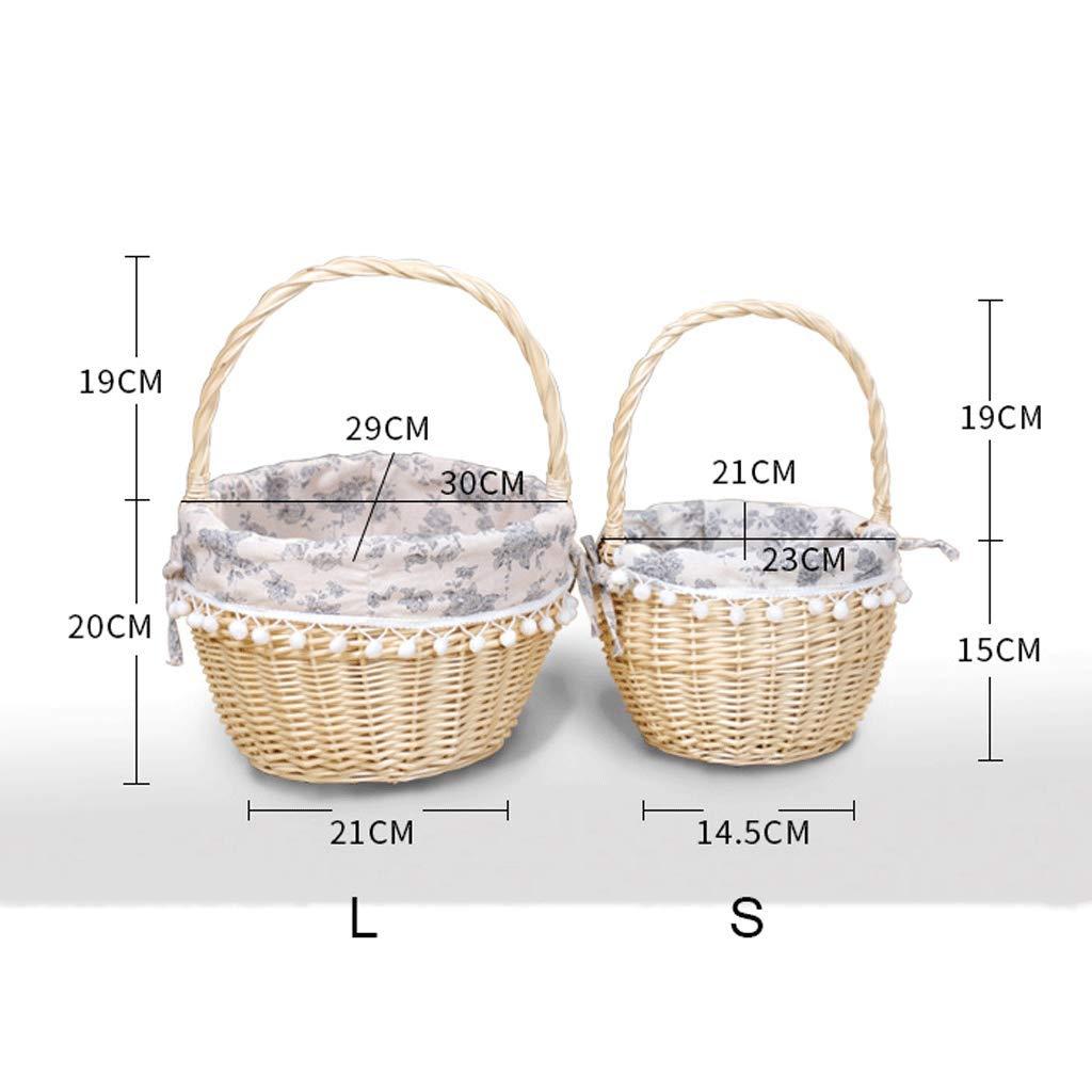 Tragbarer Korb für Picknickkorb-Rattan-Aufbewahrungskorb B07MCNR3TY       Online  3fbb9b