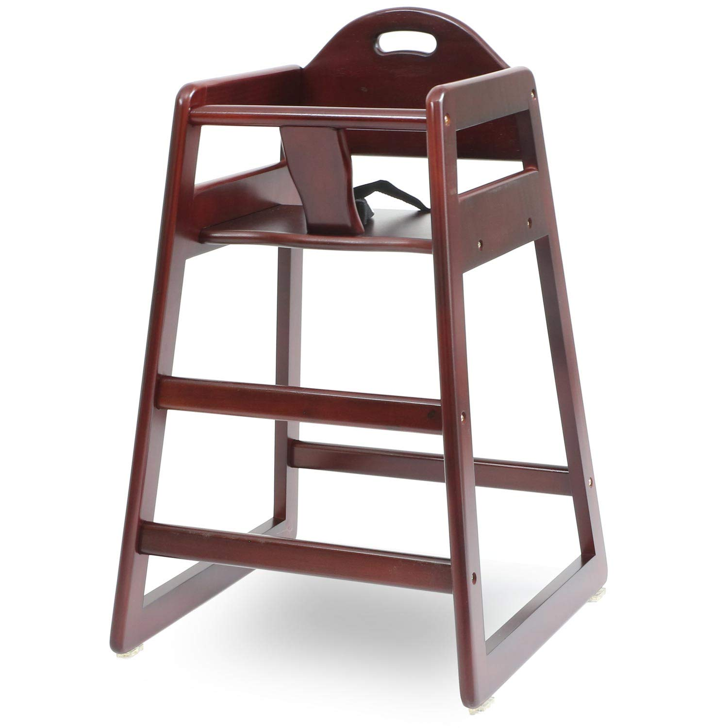 LA Baby Commercial Grade Stack-Able Solid Wood High Chair for Restaurant & Home Use - Cherry