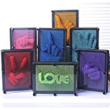 Leewa Novelty 3D Pin Art -3D Antistress Clone Fingerprint Pin Impression Toy For Sculptures A Great Fun Christmas Gift For Children and Adult