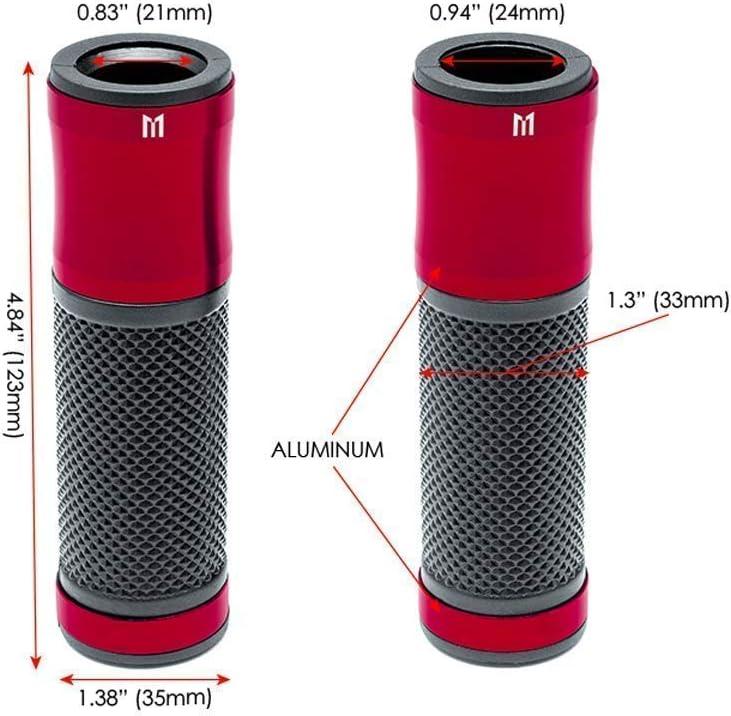 Universal 22mm 7//8  Rot Motorrad Aluminium//Gummigriffe