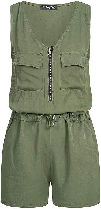 Styleboom Fashion - Mono para Mujer con Cremallera Frontal ...