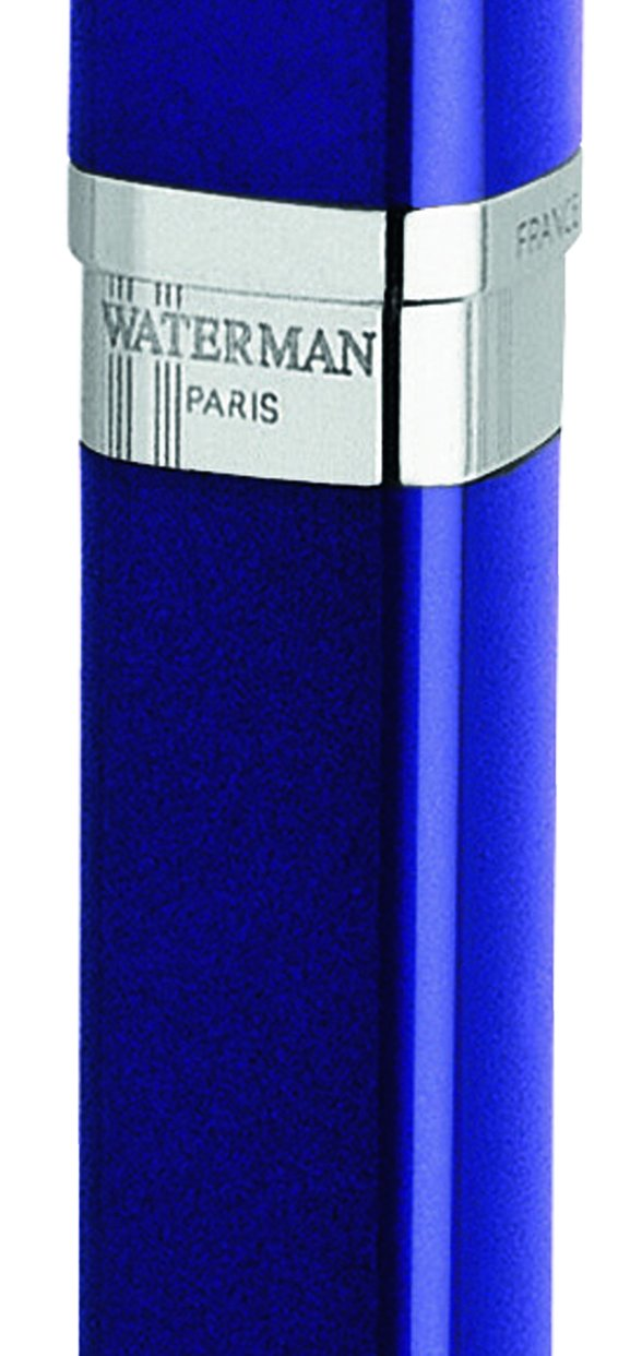 Waterman Exception Slim Blue, Fountain Pen with Medium solid gold nib and Blue ink (S0637100) by Waterman (Image #2)