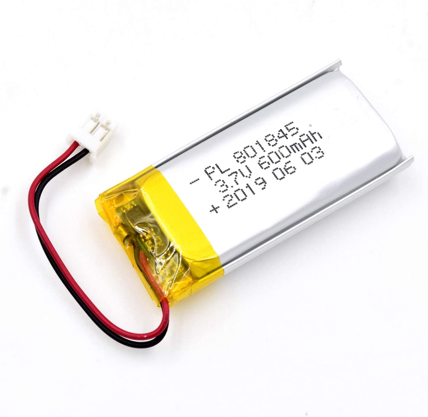 AKZYTUE 3.7V 600mAh 801845 Lipo Battery Rechargeable Lithium Polymer ion Battery Pack with JST Connector