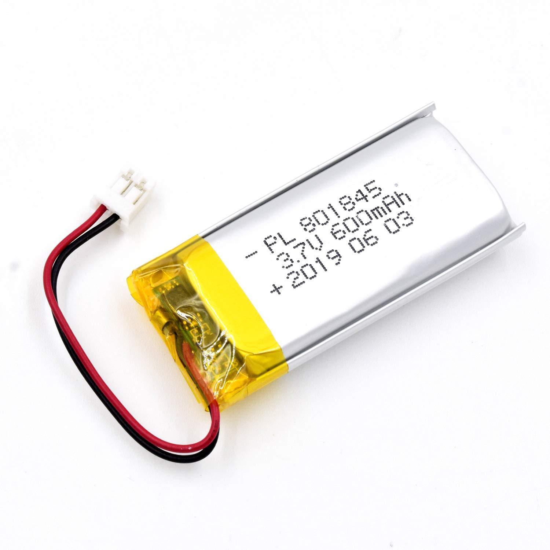Bateria Lipo 3.7v 600mah 801845 Recargable Jst Conector